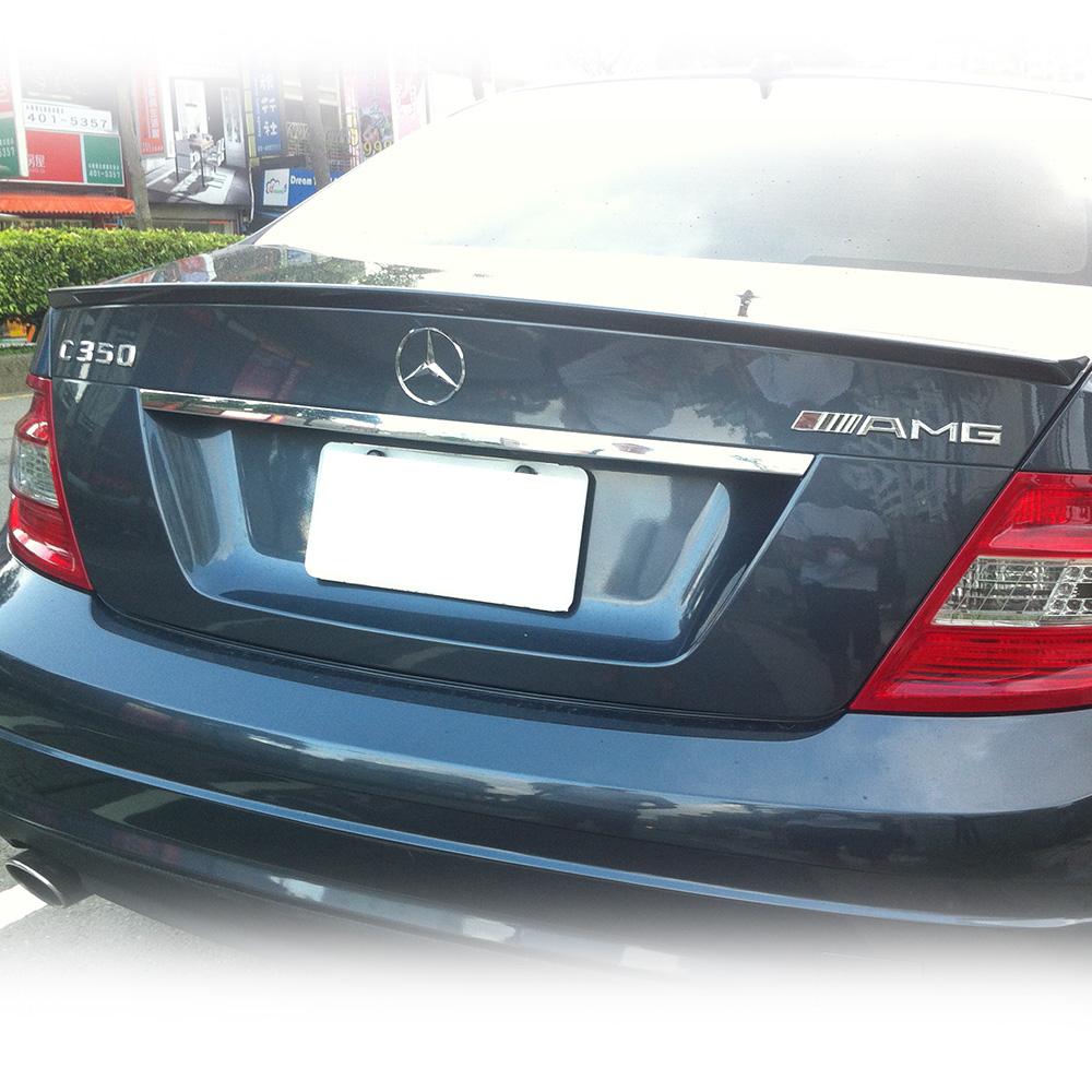 Matte black mercedes benz w204 c class trunk spoiler a for 2014 mercedes benz c250 sport 4d sedan